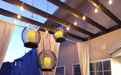 How to Hang Outdoor Party String Lights