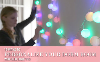 15 Ways to Personalize Your Dorm Room With LED Lighting