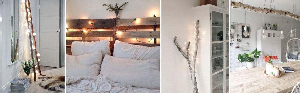 indoor string light ideas