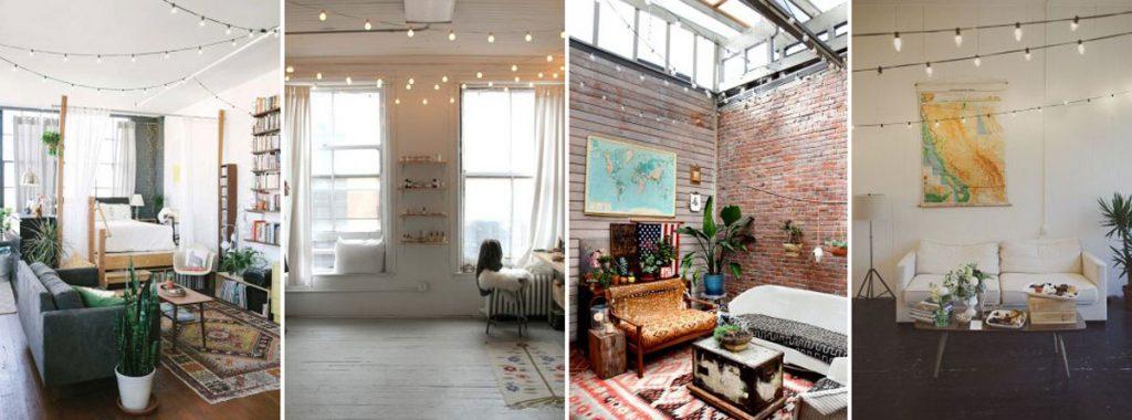 string lights for indoor decorating