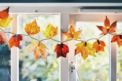 DIY Fall Lights Decor