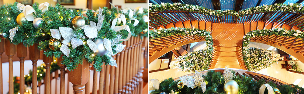 commercial christmas garland ideas