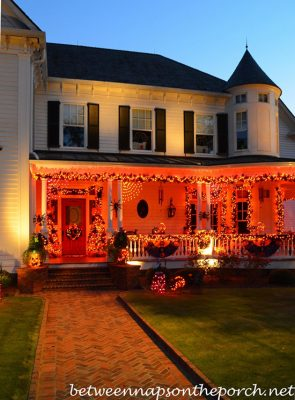 Orange light porch
