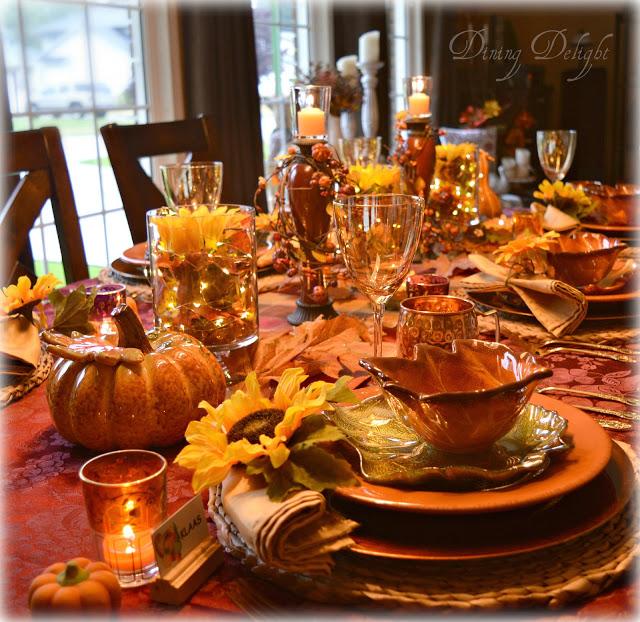 fall table setup