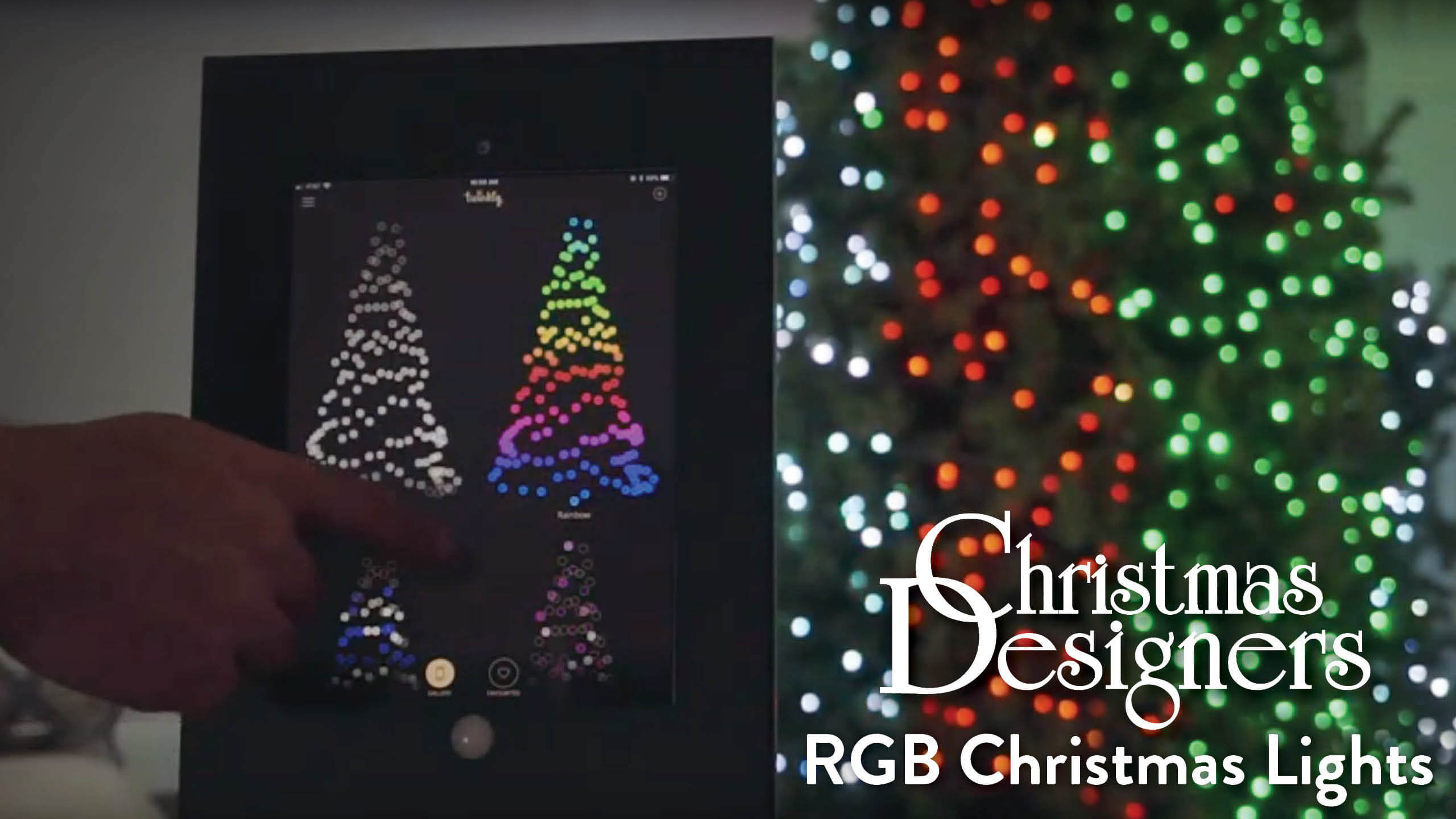 Twinkly Pro RGB Christmas Lights In Action