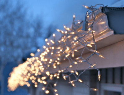 Icicle christmas lights