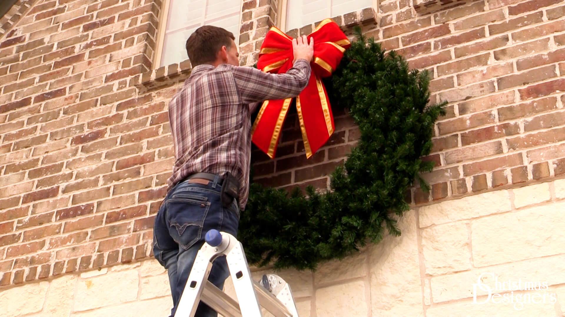 Easily Hang a Wreath on Brick