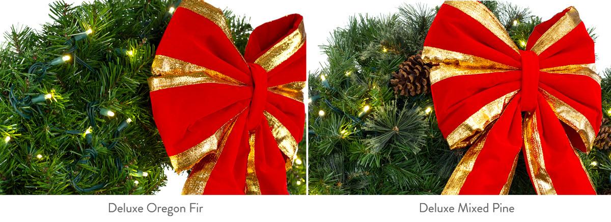 types of christmas greenery mixed pine oregon fir
