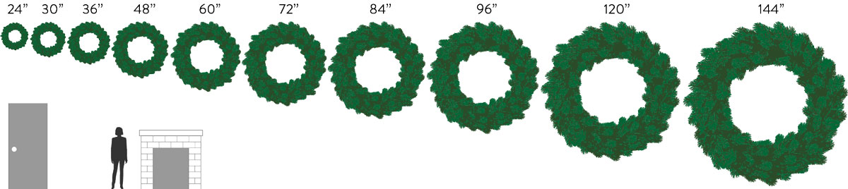 different wreath sizes available