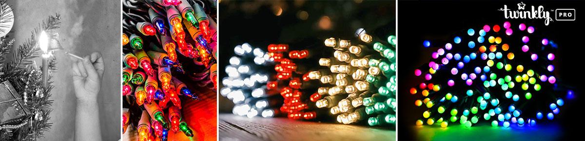 evolution of Christmas lights